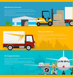 set of cargo delivery banners vector image