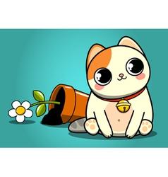 Bad kitten vector image vector image