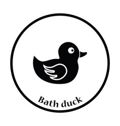 Bath duck icon vector image vector image