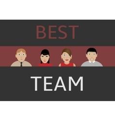 Best business team vector image