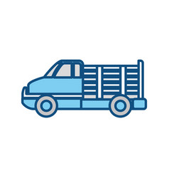 cargo suv vehicle vector image