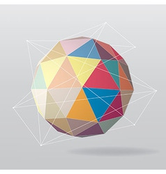 Colorful globe geometrical background vector image vector image