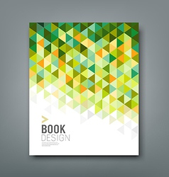 Cover report green triangle geometric pattern vector image vector image