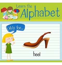 Flashcard letter H is for heel vector image vector image