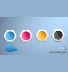 four colors ink background vector image