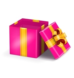 Open red gift vector image