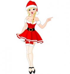 sexy girl in Santa suit vector image vector image