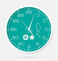wall clocks modern dial plate clock vector image vector image