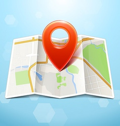 City Map With Marker Icon vector image vector image