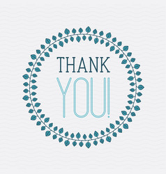 concept thank you with leaves for web site vector image