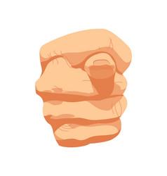 fig sign hands gesture poster vector image