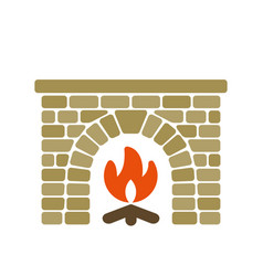 home fireplace vector image vector image