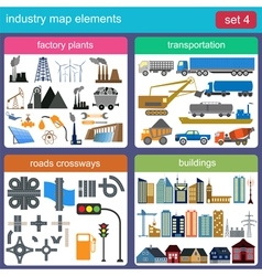 Industry map elements vector image