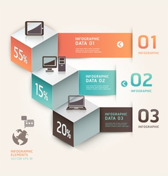 Modern infographics communication technology vector image vector image