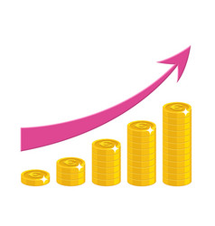 profit growth cartoon style isolated vector image