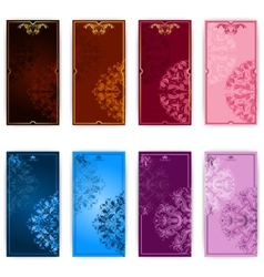 Set of template for elegant greeting card vector image vector image