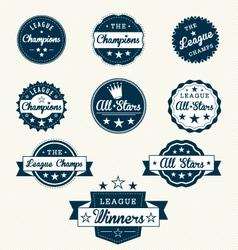 Vintage Sports Labels vector image vector image