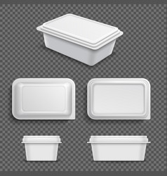 white blank plastic food container for margarine vector image