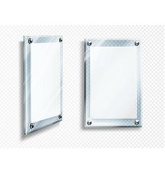 acrylic poster blank glass frame hang on wall vector image