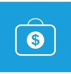 Bag with dollars white icon vector image