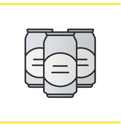 Beer cans color icon vector