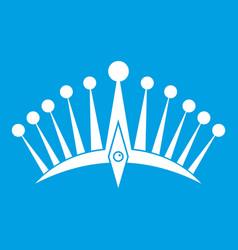 big crown icon white vector image