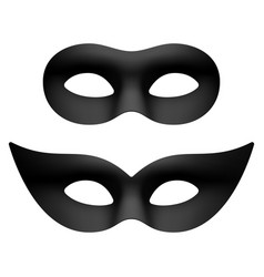 black masquerade carnival party eye masks vector image