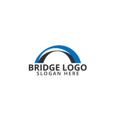 bridge logo icon template vector image