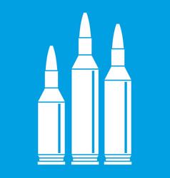 bullet ammunition icon white vector image