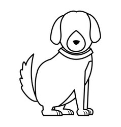 Cartoon dog animal pet family image vector