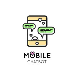 chatbot modern simple icon vector image