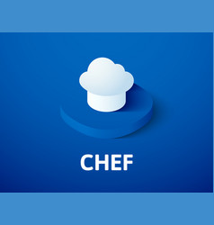 chef isometric icon isolated on color background vector image