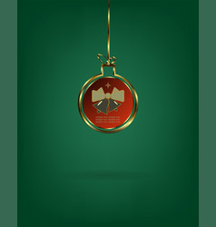 Christmas ball with bells vector
