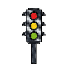 classic traffic stop light vector image