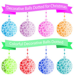 colorful decorative balls dotted for christmas vector image