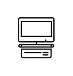 computer display with blank white screen vector image