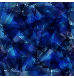 dark blue gradient triangle mosaic template vector image