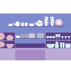 Dishes shop vector