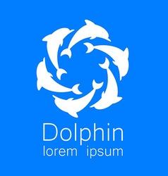 dolphin logo vector image vector image