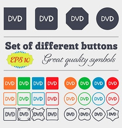 dvd icon sign Big set of colorful diverse vector image