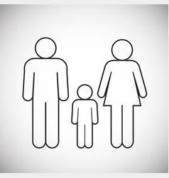 family figure on white background vector image