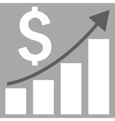 Financial Report Flat Icon vector image