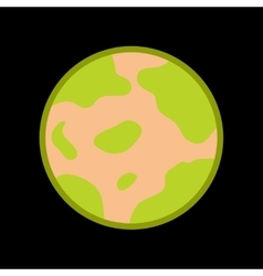 flat icon on background halloween full moon vector image