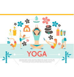 flat yoga template vector image