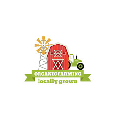 Fresh from the farm concept logo template with vector