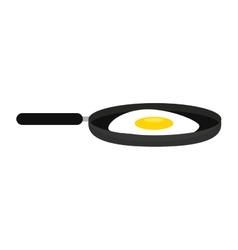 fried egg isolated icon design vector image