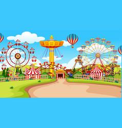 Fun fair amusement park empty vector
