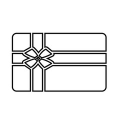 gift card black icon vector image