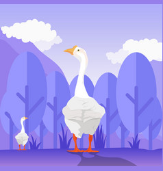goose design for wallpaper vector image