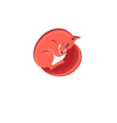 graphic symbol of a red fox vector image